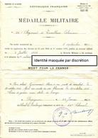 Diplôme De Médaille Militaire Décernée Le 22-01-1924 Par Le 24è Colonial - Diplômes & Bulletins Scolaires