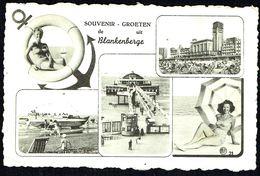 """BLANKENBERGE / BLANKENBERGHE - """"Groeten Uit Blankenberge"""" - 5 Vues Diverses - Circulé - Circulated - Gelaufen - 1959, - Blankenberge"""