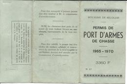 Permis De Port D'armes De Chasse 1965 1970 - Documenti Storici