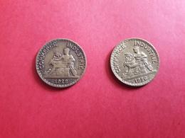 Pièce Commerce Industrie Bon Pour 50.centimes - Coins & Banknotes