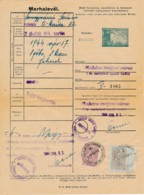Passeport D'animaux 1944 –moutons – Description, âge Et Propriété - Revenue Stamps