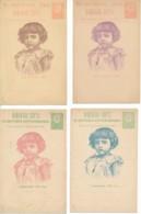 Bulgarie 1896 – 4 Cartes Illustrées - Postal Stationery