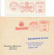2 EMA Allemagne 1968 & Berlin 1967 – Edelweiss – Vacances Dans Les Alpes & Camembert Karl Hoefelmayr - Plants