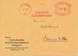 Allemagne – EMA 1935 – Holzberufsgenossenschaft - Association Professionnelle Du Bois - Poststempel - Freistempel