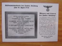 Abstimmungskarte Des Landes Salzburg Zum 10.4.1938 (131) - Weltkrieg 1939-45