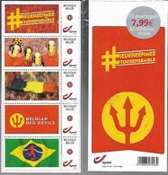 Belg. 2014 - Duostamp - Diables Rouges (Belgian Red Devils) -  2 Bandelettes De 5 Timbres - Sous Blister - Belgium