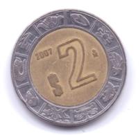 MEXICO 2007: 2 Pesos, KM 604 - Mexico