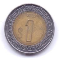 MEXICO 2007: 1 Peso, KM 603 - Mexico