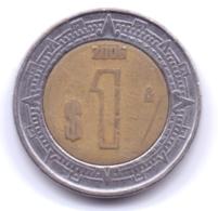 MEXICO 2006: 1 Peso, KM 603 - Mexico