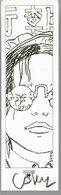 Marque-page A.LI.E.N ( Alien ) Cosey Jonathan Signé - Marcapáginas