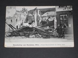 MECHELEN - Beschieting 1914 Hoek Borzestraat En IJzerenleen - Malines