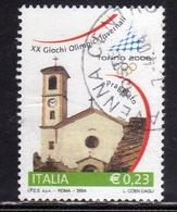 ITALIA REPUBBLICA ITALY 2004 GIOCHI OLIMPICI INVERNALI TORINO2006  € 0,23CHIESA SANTA MARIA ASSUNTA PRAGELATO USATO USED - 2001-10: Usati
