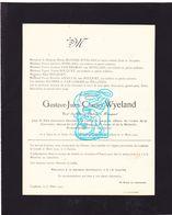 DB Gustave Wyeland ° Ieper 1859 † Loppem Zedelgem 1935 X Palmyre Bouquet / Blomme V Eegroo Angillis V Loocke De Milliano - Obituary Notices