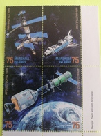 Timbres Navettes +station Mir+apollo+satellites - Space
