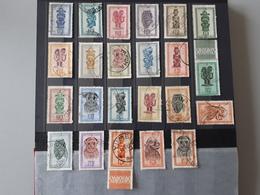 Timbres Congo-Belge 1947: Masques  & - Congo Belge