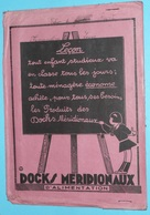 Rare Ancien Protège-cahier Publicitaire Docks Méridionaux D'Alimentation, Tables Multiplication Soustraction - Protège-cahiers