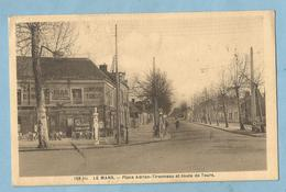 2151  CPA  LE MANS  (Sarthe)  Place Adrien-Tironneau Et Route De Tours - COMPTOIR TABAC - Le Mans