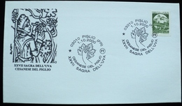 2000 Italia Italy Postmark Flamme Piglio  Wine Vin Vino Uva Raisin Grape Viñedo Vignoble Vineyard - Affrancature Meccaniche Rosse (EMA)