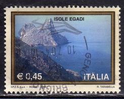 ITALIA REPUBBLICA ITALY REPUBLIC 2004 PROPAGANDA TURISTICA TOURISM ISOLE EGADI USATO USED OBLITERE' - 2001-10: Usati