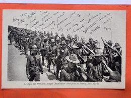 CPA.Militaire. Le Défilé Des Premières Troupes Américaines Débarquées En France.Juin 1917. (D.309) - Reggimenti