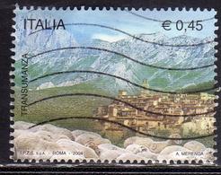 ITALIA REPUBBLICA ITALY REPUBLIC 2004 TRANSUMANZA ATTRAVERSO IL TRATTURO MAGNO USATO USED OBLITERE' - 2001-10: Usati