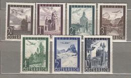 AUSTRIA OSTERREICH Airmail 1947 MNH (**) Mi 822-828 #21625 - 1945-.... 2ème République
