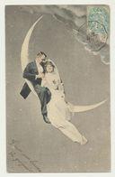 Couple Sur La Lune - Astrologie - Fantaisies