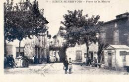 11 - Rieux Minervois - Place De La Mairie - Partie Avec Notice D'une Carte Double Palau - Other Municipalities
