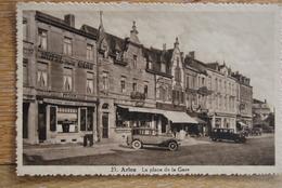 2614/ARLON - La Place De La Gare (old Timer)Hôtel De La Gare-Chez Eugène/Schmitz/Mousel - Arlon
