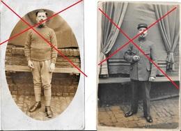 62 PAS DE CALAIS CALONNE RICOUART 2 Cartes Photo PRISONNIER GUERRE 1918 TAMPON ALLEMAND Canton De Béthune - France
