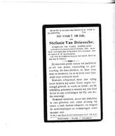 S. VAN DRIESSCHE ° OOSTERZELE 1844 +1925 (K.DOBBELAERE) - Devotion Images