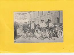 CPA 84 MONT VENTOUX  BICYCLES LYON ST ETIENNE  AU SOMMET PEU COURANTE - Francia