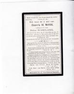 C.DE WAEGHE °MERENDREE 1855  +1913 (P.DOBBELAERE) - Devotion Images