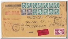 Amerika 1967, Expres Letter From New York To Amsterdam - Verenigde Staten
