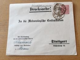 KS2 Württemberg Ganzsache Stationery Entier Postal DUB 29 Von Biberach Nach Stuttgart Meteorologie Meteorology - Wurtemberg