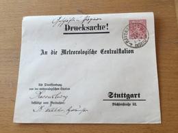KS2 Württemberg Ganzsache Stationery Entier Postal DUB 29 Von Ravensburg Nach Stuttgart Meteorologie Meteorology - Wurtemberg