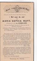 M.NUYT °WAARSCHOOT 1868 +1945 (J.DOBBELAERE) - Devotion Images