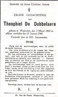 T. DE DOBBELAERE °WATERVLIET 1865 +1940 - Devotion Images
