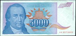 YUGOSLAVIA - 5.000 Dinara 1994 {Narodna Banka Jugoslavije} UNC P.141 - Yugoslavia