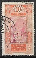GUINEE    -   1913 . Y&T N° 67 Oblitéré .  Gué à Kitim. - French Guinea (1892-1944)