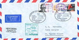 Germany Air Mail Cover First Lufthansa DC 10 Flight LH 524 Frankfurt - St. Maarten 4-11-1989 - [7] République Fédérale