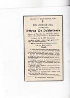 P.DE DOBBELAERE °WATERVLIET 1862 +1940 - Devotion Images