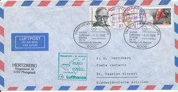 Germany Air Mail Cover First Lufthansa DC 10 Flight LH 524 Frankfurt - St. Maarten 4-11-1989 - [7] Federal Republic