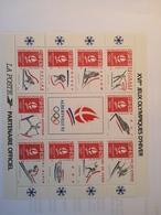 Timbre FRANCE Neuf Bloc Feuillet Jeux Olympiques D'hiver Albertville 1992 - Neufs