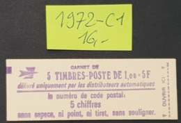 Carnet N° 1972-C1  Neuf ** à -16% De La Cote  TTB - Booklets