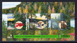 2010 Finland Autumn Lobster Ducks Moose Complete Sheet Of 3 MNH @ Below Face Value - Finnland