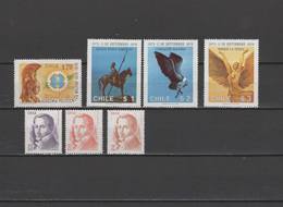 Chile 1976 Michel 858-864 Polytechnic Military Academy, Military Governement, Diego Portales 7 Stamps MNH - Chile