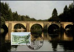1991 - MK - Chiny : St-Niklaasbrug - Cartes-maximum (CM)