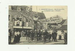 53 - ARGENTRE - Fete De Jeanne D'arc 19 09 1909 L'aéroplane Gros Plan Animé Bon état - Argentre