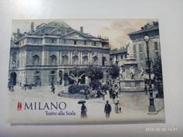 1 Calamita MILANO MILAN  Teatro Alla Scala 1900 Aimant Imanes Soft Touch Velluto Opaco 78x53 Carta Foto Handmade - Tourism